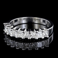14K White Gold Estate Diamond Band
