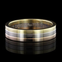 Cartier 18K Tricolor Gold Trinity Wedding Band