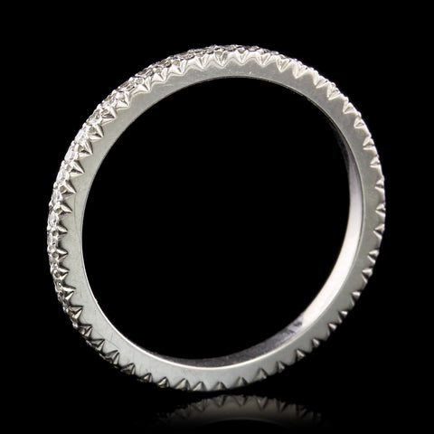 18K White Gold Estate Diamond Eternity Band