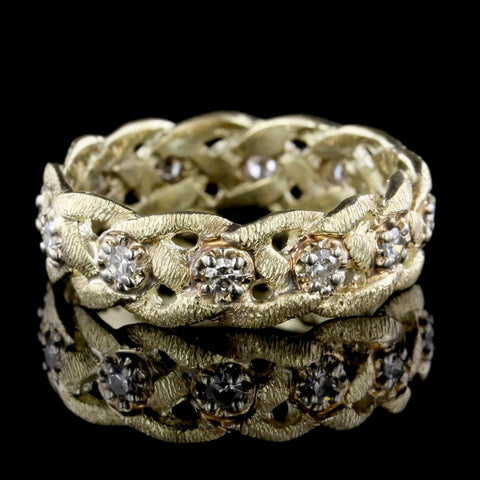 14K Yellow Gold Braided Band