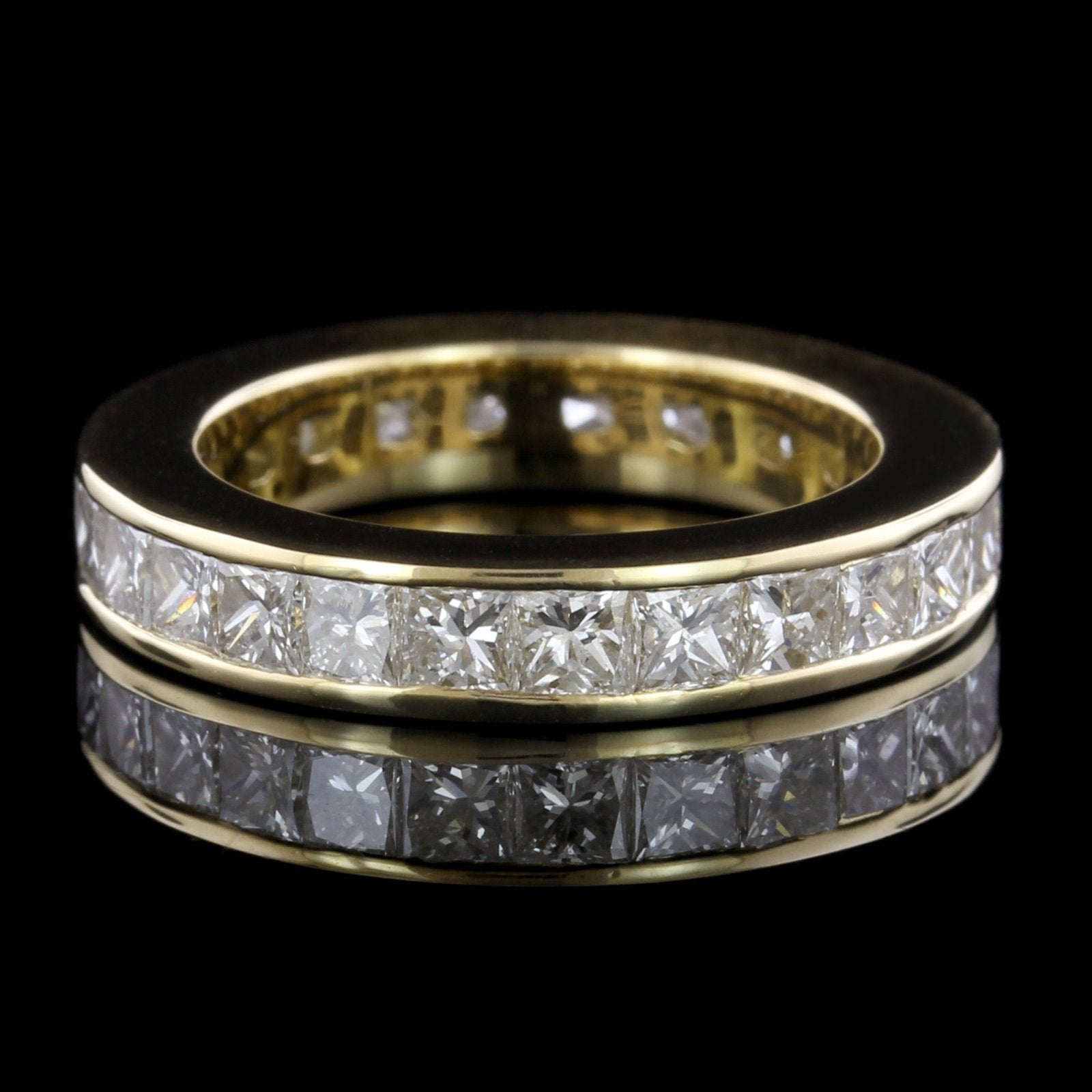 18K Yellow Gold Estate Diamond Eternity Band