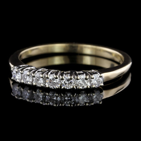 14K Two-tone Gold Estate Diamond Band
