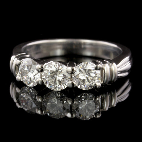 Platinum Diamond Estate Three Stone Band
