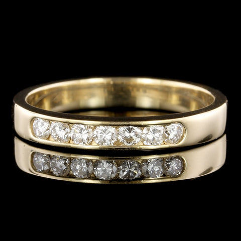 14K Yellow Gold Estate Diamond Band