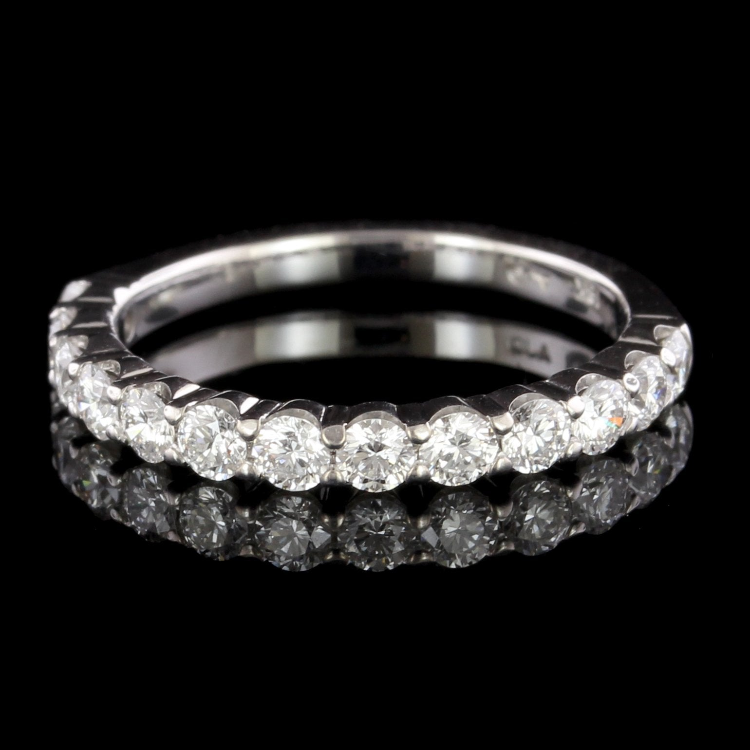 18K White Gold Estate Diamond Band