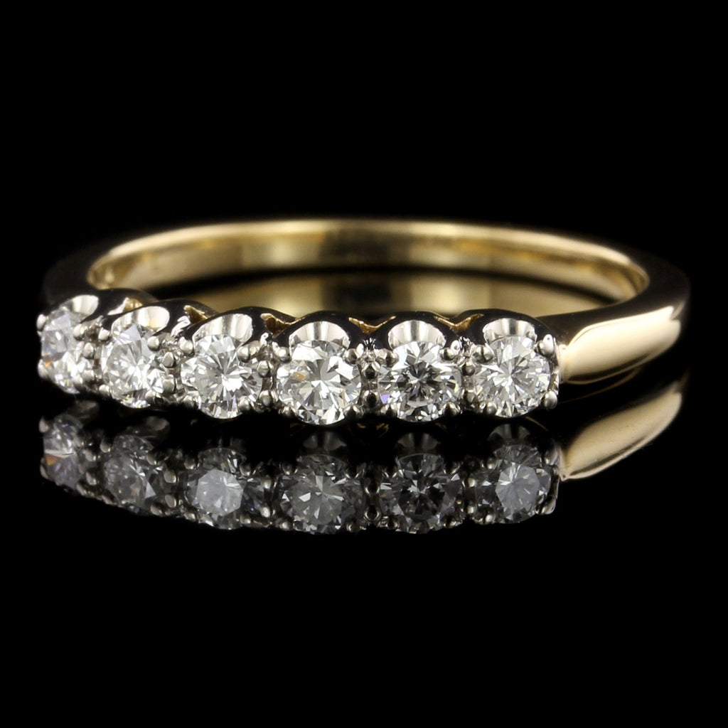 18K Yellow Gold Estate Diamond Band