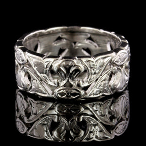 Vintage 14K White Gold Estate Band