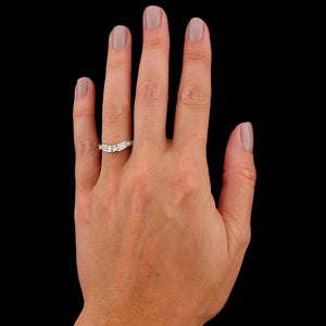 14K White Gold Estate Diamond Wrap Band
