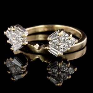 14K Yellow Gold Estate Diamond Wrap Ring