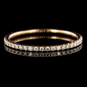Tiffany & Co. 18K Rose Gold Estate Diamond Soleste Eternity Band