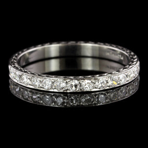 Vintage Platinum Estate Diamond Band
