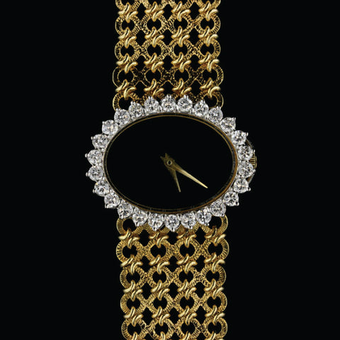 Corletto 18K Yellow Gold and Diamond Wristwatch