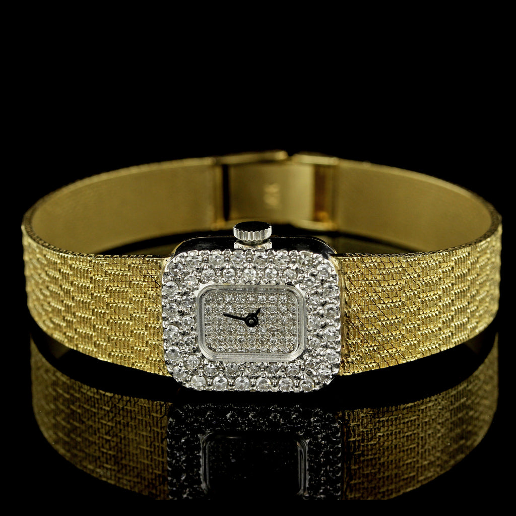 Ladies 14K Yellow Gold Diamond Wristwatch