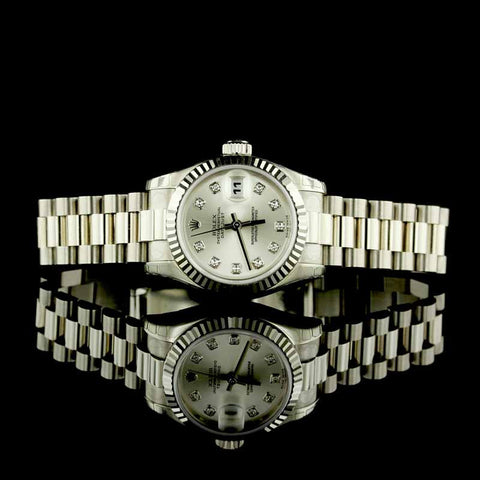Rolex 18K White Gold Datejust 26