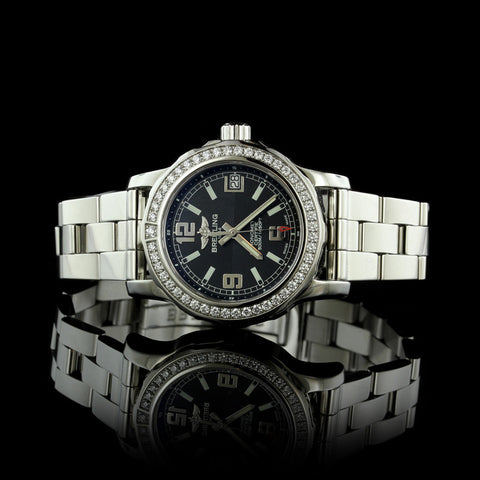 Breitling Stainless Steel Colt 33 Wristwatch