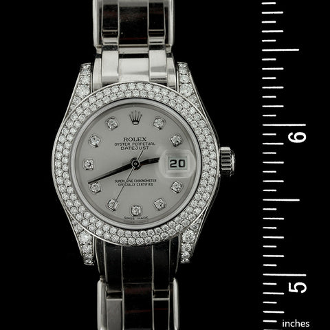 Rolex 18K White Gold Pearlmaster