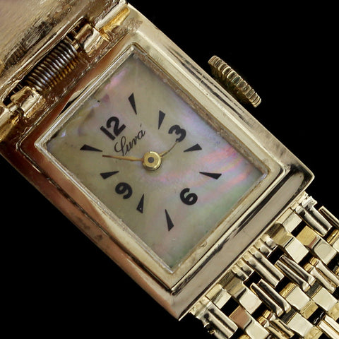 Ladies 14K Yellow Gold Covered Wristwatch