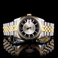 Rolex Stainless Steel and 18K Yellow Gold Datejust Wristwatch