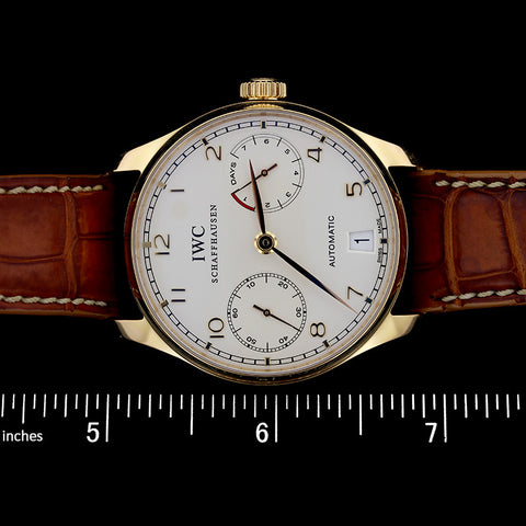 IWC 18K Yellow Gold Portugeiser Automatic IW50010 Wristwatch