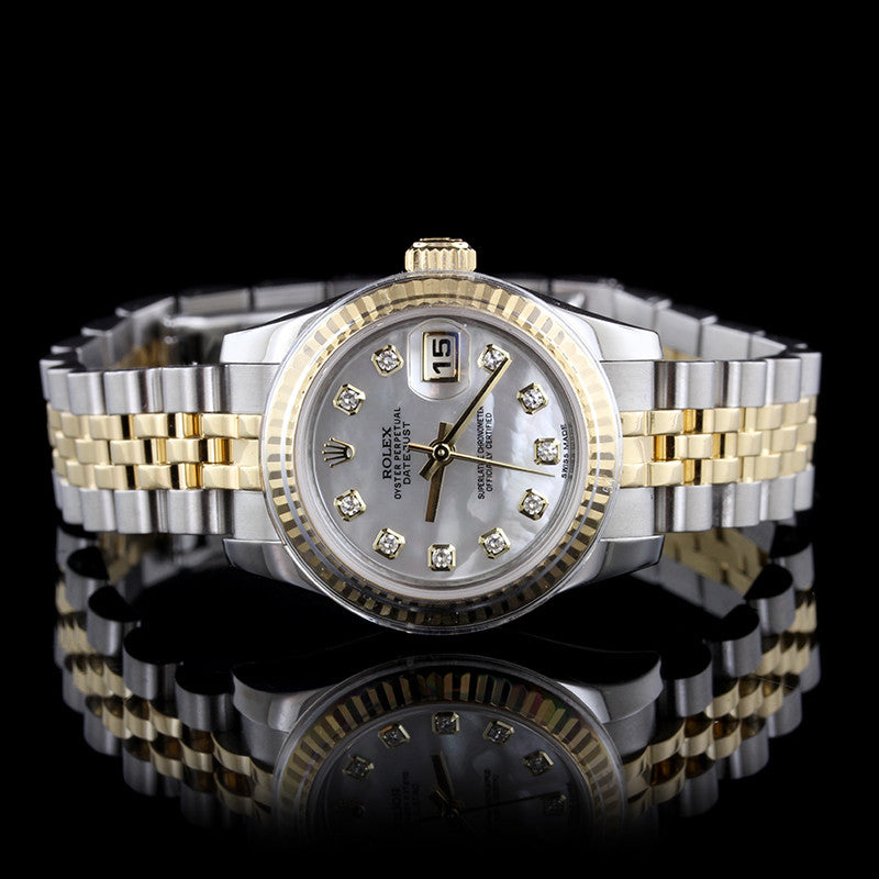 Ladies Rolex Stainless Steel and 18K Yellow Gold Datejust Wristwatch