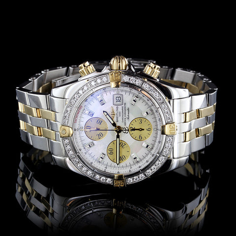 Breitling Stainless Steel and 18K Yellow Gold Chrono Evolution Wristwatch