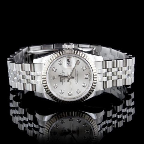 Rolex Stainless Steel and 18K White Gold Datejust Wristwatch