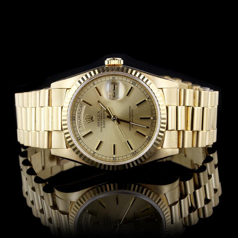 Rolex 18K Yellow Gold Day-Date 36mm Watch