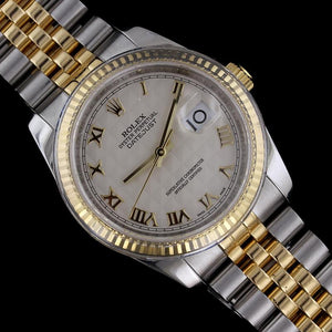 Rolex Stainless Steel and 18K Yellow Gold Datejust 36mm Wristwatch