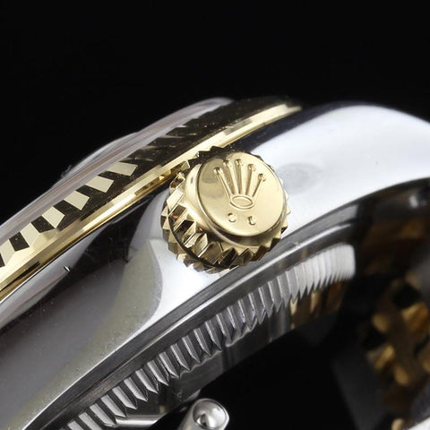 Rolex Stainless Steel and 18K Yellow Gold Datejust 28mm Wristwatch