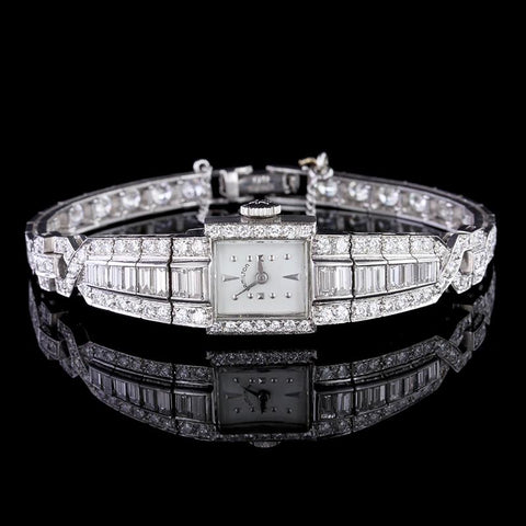 Vintage Hamilton Platinum Diamond Wristwatch