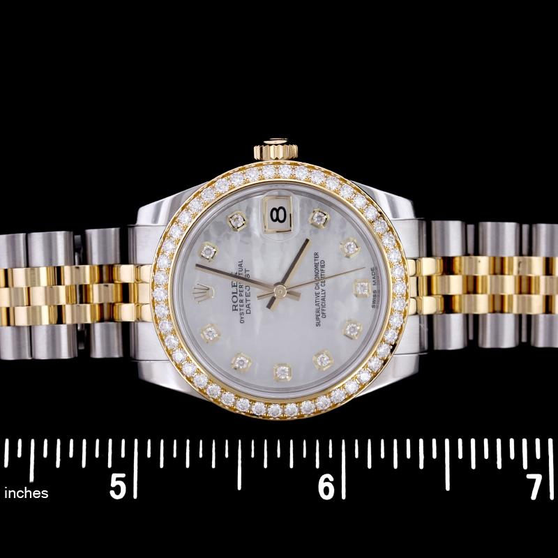 Rolex Steel and 18K Yellow Gold Datejust Wristwatch