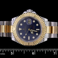 Rolex Stainless Steel and Yellow Gold Yachtmaster Wristwatch