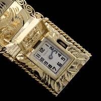 14K Yellow Gold Covered Wristwatch