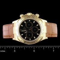 Rolex 18K Yellow Gold Cosmograph Daytona Wristwatch