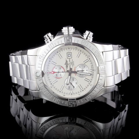 Breitling Steel Super Avenger II Chronograph Wristwatch