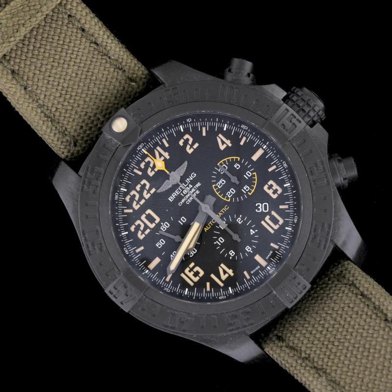Breitling Avenger Estate Hurricane Military Titanium Wristwatch