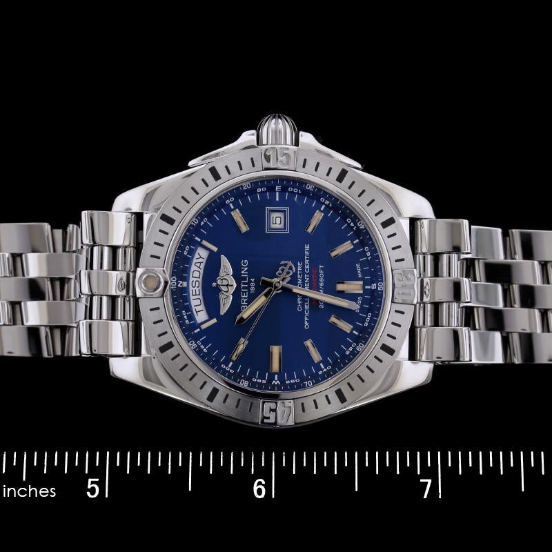 Breitling Galactic Chronometer Steel Wristwatch