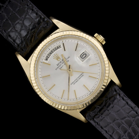 Rolex 18K Yellow Gold Day-Date Wristwatch