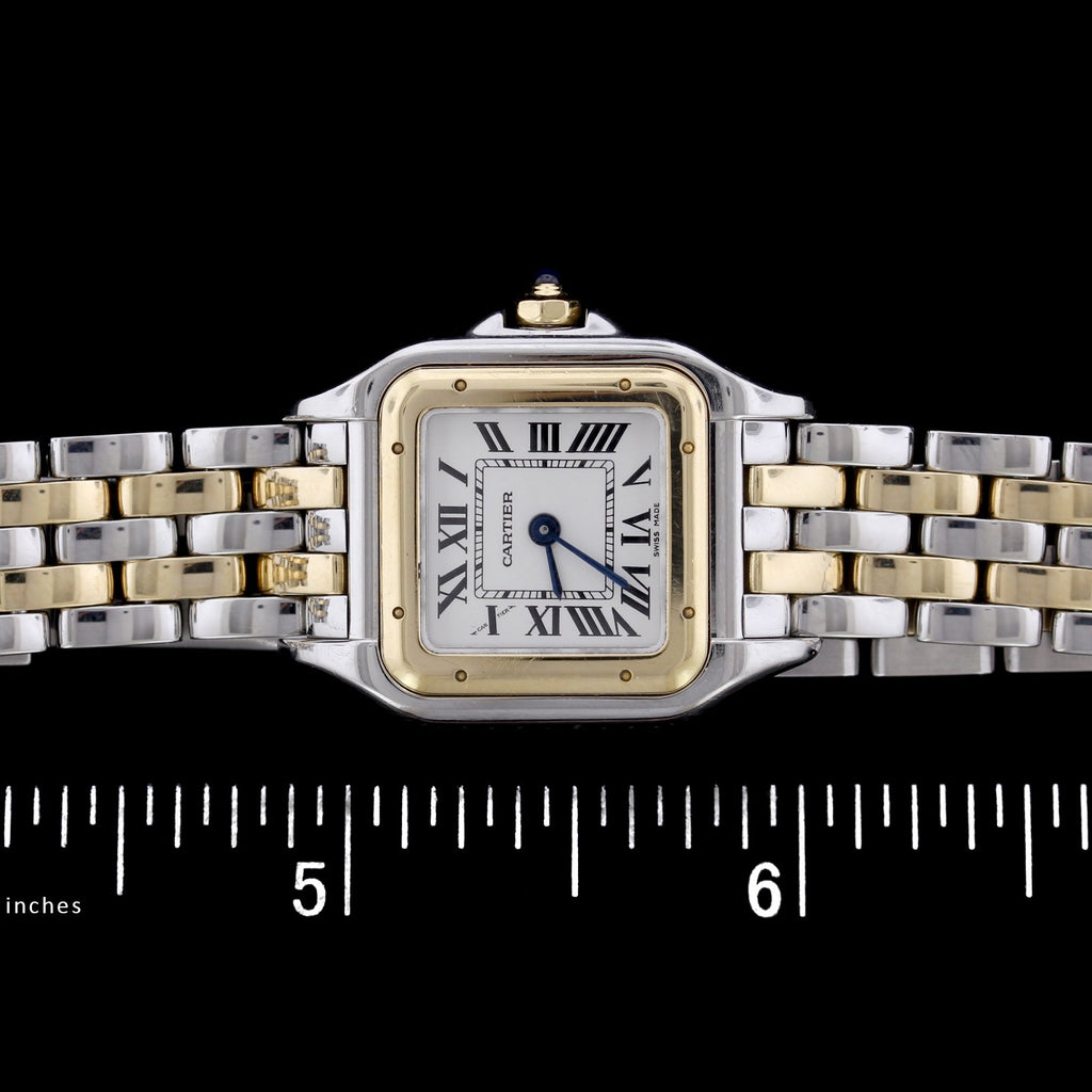 Cartier Steel and 18K Yellow Gold Panthere Wristwatch