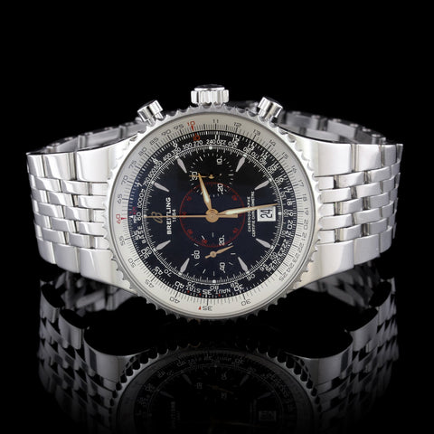 Breitling Steel Montbrillant Legende Wristwatch