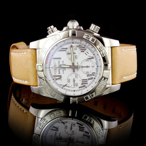 Breitling Steel Estate Automatic Chronoghraph Wristwatch