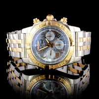 Breitling Steel and 18K Rose Gold Chronomat Wristwatch