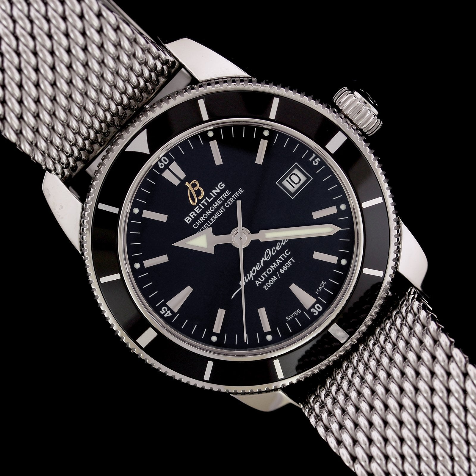 Breitling Steel Estate Superocean Wristwatch