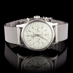 Breitling Steel Estate Transocean Chronograph Wristwatch