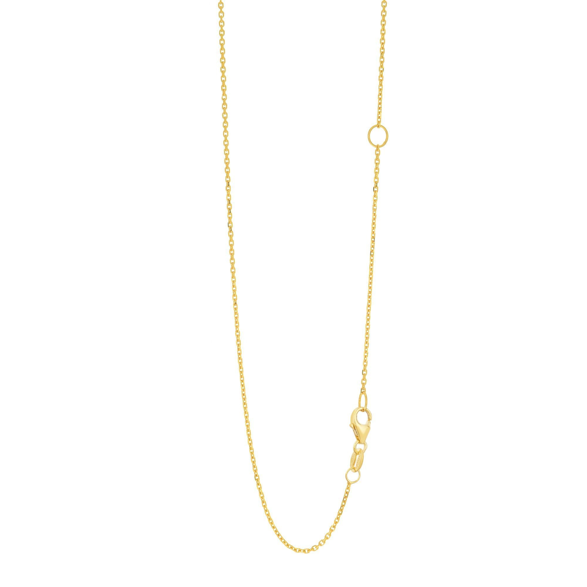 14K Yellow Gold Cable Link Chain