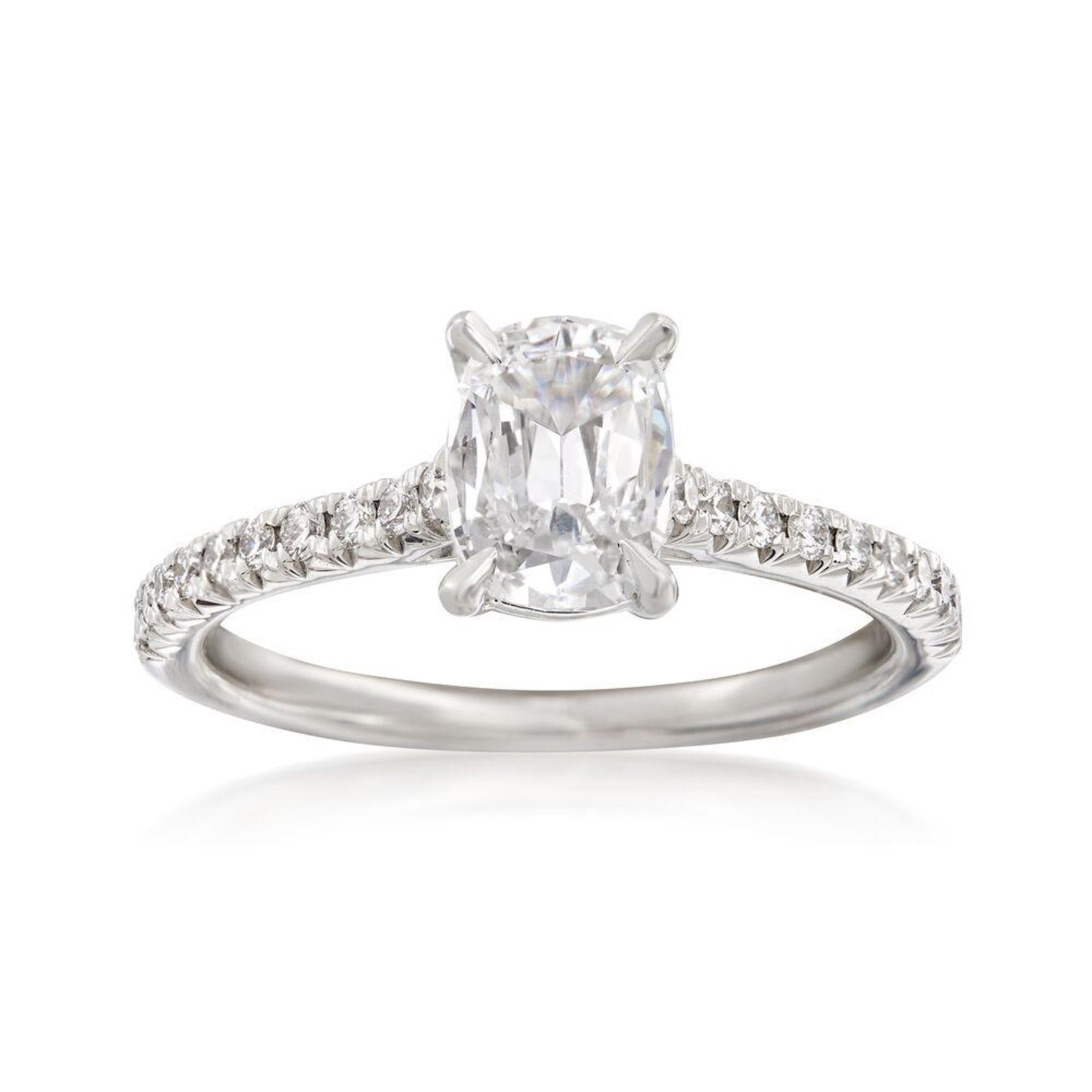 Platinum Cushion Diamond Engagement Ring