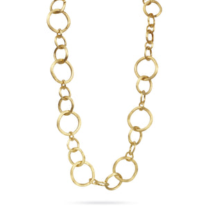 Jaipur 18K Yellow Gold Link Medium Gauge Collar Necklace
