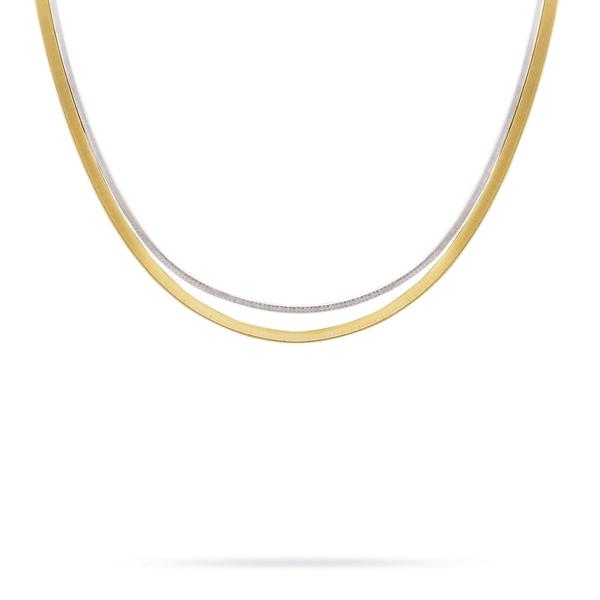 Goa 18K Two-Tone Gold 2 Row Necklace