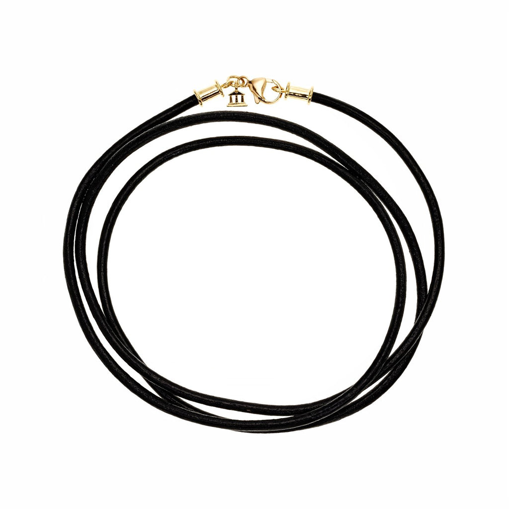 18K Black Leather Cord