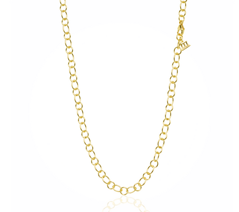 18K Yellow Gold Ribbon Chain 18""